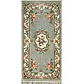Hand-knotted Oriental Light Grey Rug (2'1 x 4'3)