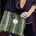 Cotton 'Thai Jade' Sling Tote Bag (Thailand)