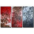 'Wide Open Mess' 3-piece Canvas Art