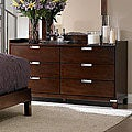 Noho 6-drawer Warm Cherry Gallery Dresser