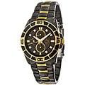 Bulova Men's Black IP Diamond-accented Watch