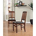 Mission-style Folding Chairs (Set of 2)