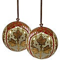 Set of Two Royal Red Ornaments (India)