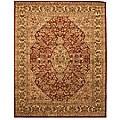 Hand-tufted Wool Rust Traditional Oriental Rust Simba Rug (7'9 x 9'9)
