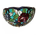 Stained Glass Dragonfly LED Sconce Light