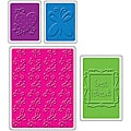 Sizzix 'Best Friends' Textured Impressions Embossing Folders