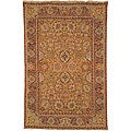 Heirloom Hand-spun Kashan Gold Wool Rug (8' x 10')