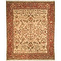 Oushak Legacy Hand-knotted Herati Ivory/ Red Wool Rug (8' x 10')