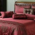 Fontain Burgundy 7-piece Comforter Set