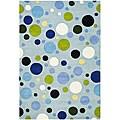 Safavieh Handmade Bubblegum Light Blue/ Multi N. Z. Wool Rug - 7'6 x 9'6