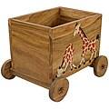 Handmade Painted Giraffe Kid's Storage/ Toy Box (Thailand)