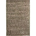 Hand-knotted Royal Green NZ Abstract Design Wool Area Rug (8' x 11')