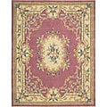 Nourison Hand-tufted Rose Floral Wool Rug (7'3 x 9'3)