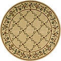 Nourison Arcadia Light Gold Rug (7'5 x 7'5) Round