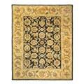 Safavieh Handmade Classic Black/ Gold Wool Rug - 7'6 x 9'6