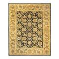 Safavieh Handmade Classic Black/ Gold Wool Rug (8'3 x 11')