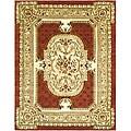 Safavieh Handmade Classic Burgundy/ Beige Wool Rug - 8'3 x 11'