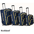 Rockland Polo Equipment Olympian 4-piece Navy Expandable Luggage Set