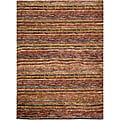 Safavieh Hand-knotted All-Natural Striped Red/ Multi Runner (2'6 x 10')
