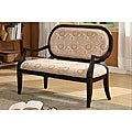 Furniture of America Hand-carved Expresso Finish Arm Love Seat/ Bench