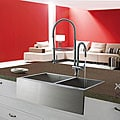 VIGO Farmhouse 33-inch Stainless Steel Two-bowl Kitchen Sink and Faucet