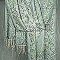 Silk 'Jade Celebration' Shawl (India)