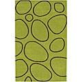 Alliyah Handmade Green New Zealand Blend Wool Rug(8' x 10')