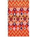 Tracy Reese Diamond Woodblock Apricot Oversized Beach Towel