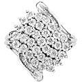 Unending Love Sterling Silver 1/4ct TDW Diamond Fashion Ring (I-J, I2)