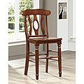 Cedar Hills Curved-back Mahogany 24 inches Counter Height Stool