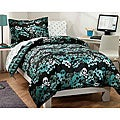 Skulls 7-piece Full-size Bed in a Bag with Sheet Set