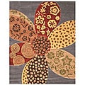 Hand-tufted Wool Red Contemporary Floral Napa Rug (8'9 x 11'9)