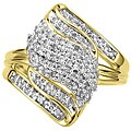 Unending Love 14k Gold Vermeil 1/2ct TDW Diamond Fashion Ring (K-L, I1-I2)