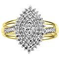 Unending Love 14k Gold over Silver Vermeil 1/2ct TDW Diamond Fashion Ring (K-L, I1-I2)