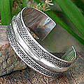 Sterling Silver 'Enchanted' Cuff Bracelet (Thailand)