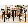 Tony Solid Wood Brown Two-tone 5-piece Dining Room Set
