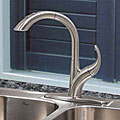 Fontaine Chloe Brushed Nickel Pullout Kitchen Faucet