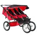 BeBeLove Red Triple Jogging Stroller
