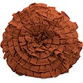 Handmade Regent Orange Rosette Pillow