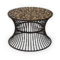 Handcrafted Ningbo Metal Flat Rock Top Table