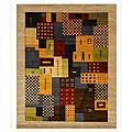 Hand-tufted Wool Misra Rug (7'9 x 9'9)