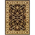 Indoor Brown Floral Rug (9' x 13')