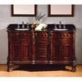 OVE Decors Birmingham 60-inch Double Sink Bathroom Vanity with Granite Top