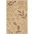 Hand-knotted Fossil Beige Wool Area Rug - 8' X 11'