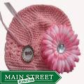 Crocheted Hat and Bottle Cap Necklace Set