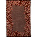 Hand-tufted Whimsy Chocolate Wool Area Rug (5' x 8')