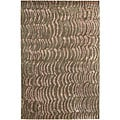 Hand-knotted Resonate Grey Abstract Design Wool Area Rug (5' x 8')