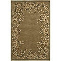 Hand-knotted Neoteric Brown Wool Area Rug - 8' X 11'