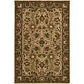 Hand-knotted Neoteric Brown Wool Area Rug (5' x 8')