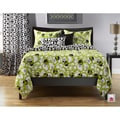 Full Circle Green 6-pc Queen-size Duvet Cover and Insert Set